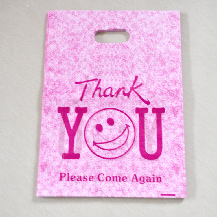 Whole Hot Pink Thank You Design Plastic Bag 25x35cm 50pcs Lot