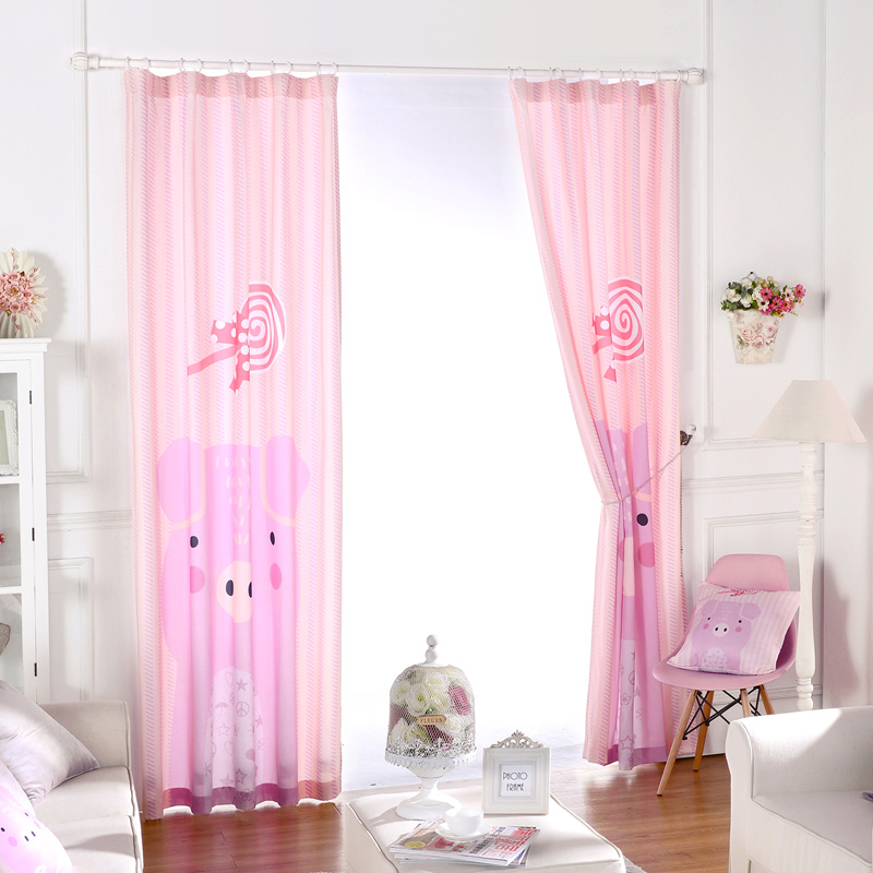 Pink Bedroom Window Curtains Princess Fabric For Curtain Panel ...
