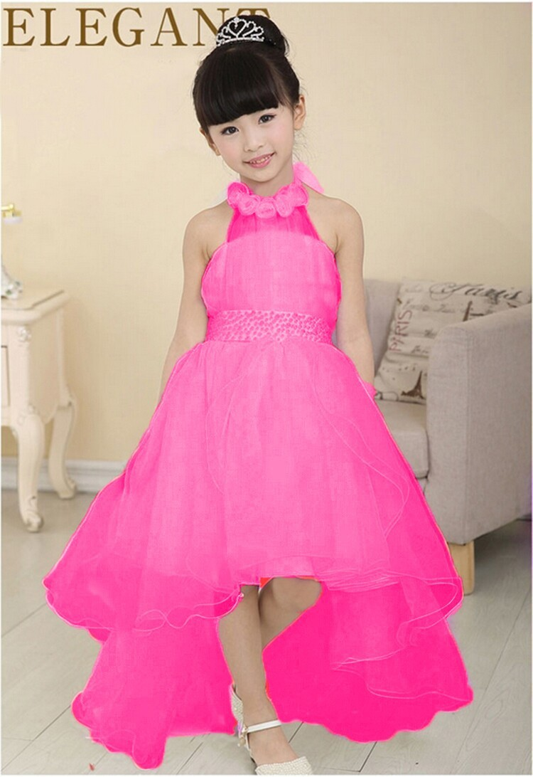 2016 New Summer Baby Girls Party Dress Evening Wear Long Tail Girls ...