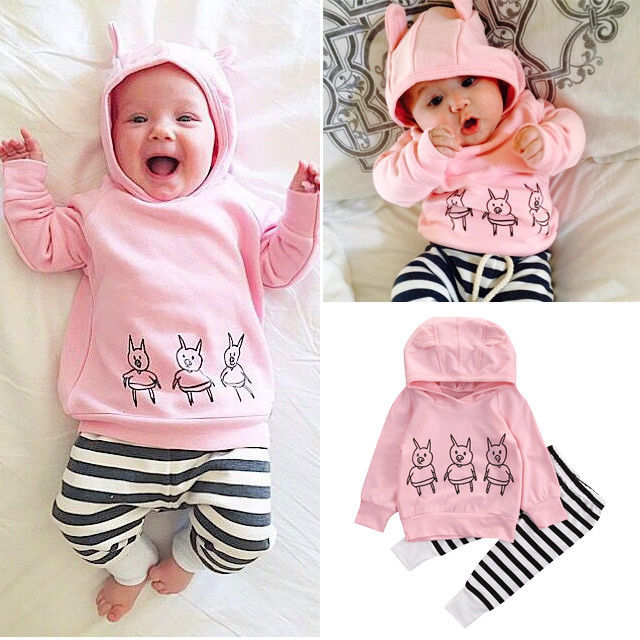 New Cute Pigs Baby Girl Clothes Kids Sweatshirt Tops